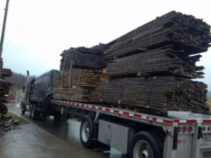 Truckload of Maple Flooring
