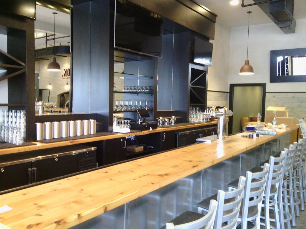 Custom-made reclaimed wood bar tops and tables | The ...