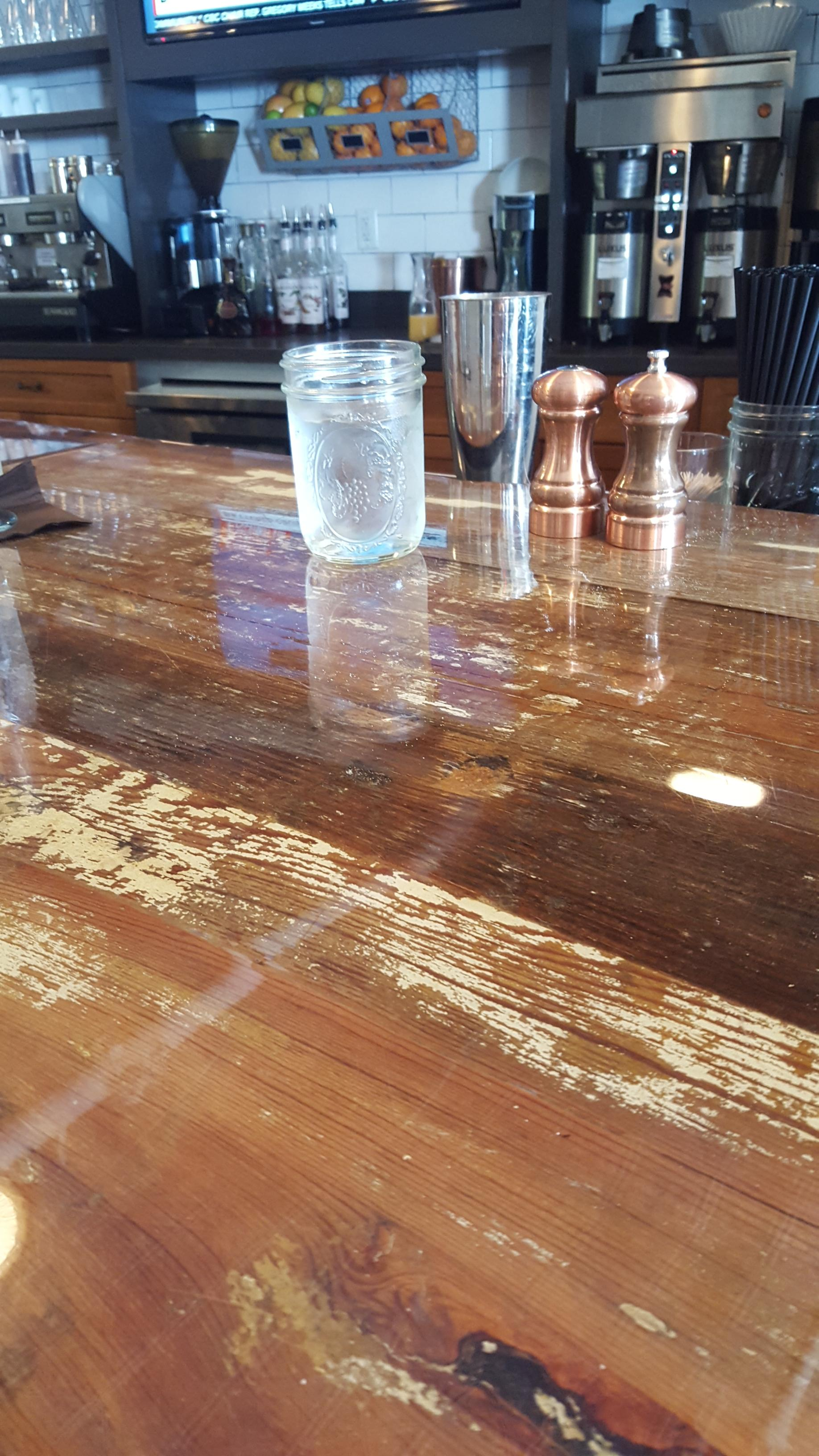 Heart Pine Bar Top